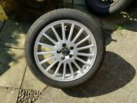 "Volvo S60 S80 Wheel and Bridgestone Turanza 17"" tyre"