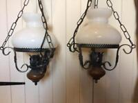 Pair of hanging ceiling lights
