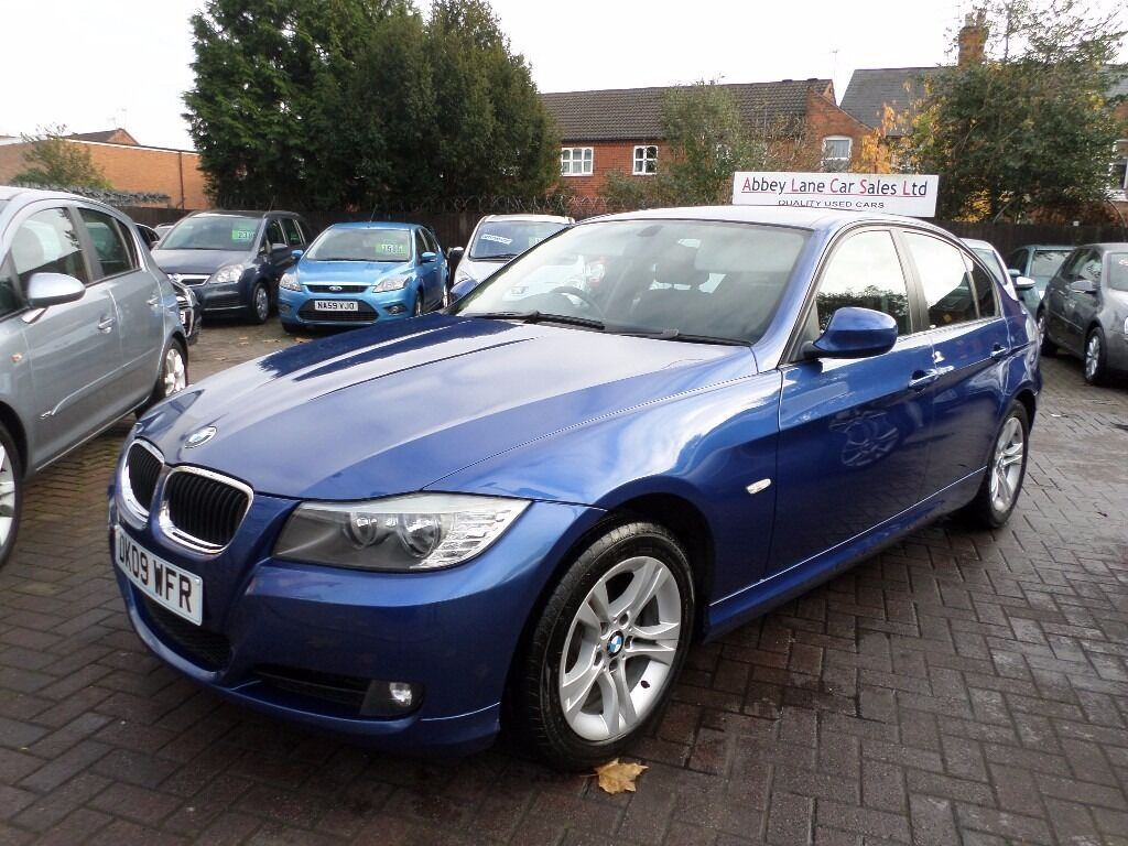 BMW 3 SERIES 2.0 318d ES 4dr, 2009 (09 REG), DIESEL, BLUE, FULL SERVICE HISTORY, 2 OWNERS, BARGAIN