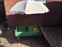 Step 2 child's water/sand table umbrella and accesories
