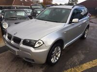 2005/55 BMW X3 3.0D SPORT,AUTOMATIC,SILVER,FULL SERVICE HISTORY,STUNNING LOOKS AND PERFORMANCE