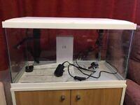 new aquarium with stand