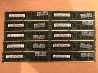 Samsung Server Memory Ram 80GB (10x 8GB) DDR3 PC3-10600R 1333MHz - M393B1K70CH0-CH9Q5