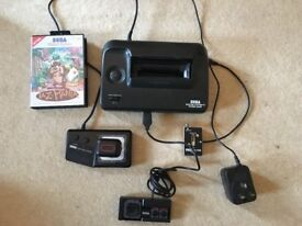 Sega Master System 2 with 2 controllers Sonic built in aTaz game and all cables