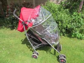 Mamas & Papas lie back buggy / pushchair with raincover