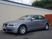 2004 BMW 525D AUTO GREY SALOON NATIONWIDE DELIVERY, WARRANTY, MINIMUM £200 PART EX, BARGAIN PRICE,