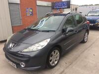 57 Peugeot 207 Sport 1.6 HDi SW (Estate) - Full MOT - S/H - Glass Pan Roof - Alloys - PX WELCOME