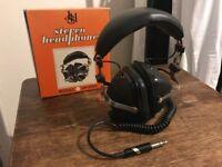 Retro JHS Stereo Headphones HP-500X Vintage 70s Earphones