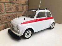 Rare vintage Kyosho mantis fiat 500 nitro Rc car collectors item