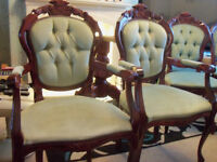 2 carvers,2 dining chairs & free childs chair including delivery(hull & outskirts)