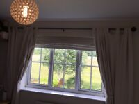 Curtains , natural cream colour, full length with blackout backing