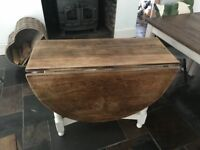 Vintage Style Drop Leaf Table