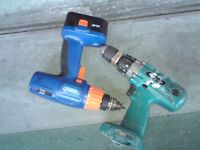 DRAPER DRILL WITHOUT CHARGER + UNKNOWN MAKITA CORDLESS DRILL ONLY N LDN N8 E**Y ITEM 262851783402