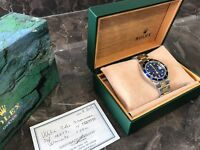 Men's Rolex Submariner 18k Stainless Steel Blue 16613 Year 1999 - 1 Year Warranty