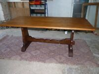 Oak Refectory Table by High Quality English Furniture Maker Great Condition