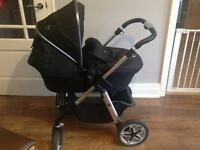 Silver Cross Pioneer pram & car seat travel system