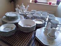 56 Pc Piece Eternal Beau Dinner Service & tea set with coasters, salt/pepper, NEW!