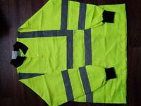 Yellow Hi vis long sleeve polo shirt size 2xlarge