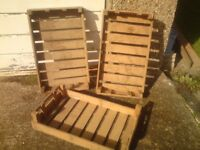 EARLY VINTAGE FRUIT,VEG BOXES,SOLID WOOD,STORAGE,RUSTIC,SHOP,RETRO,SHABBY CHIC,KITCHEN,SHELF,TABLE