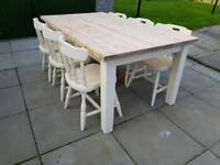 Farmhouse Solid Pine Table & Chairs