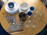 IKEA Dinner Sets + Metal and Ceramic Grill Pans + Frying Pan