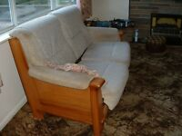 Quality Sofa with 2 Arm Chairs - some marks.