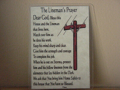 Klein Tools 1560- Linemanss Prayer Lineman Gifts