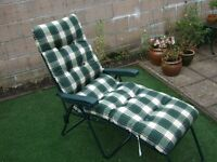 Garden Lounger - Multi-position - with Luxury Padded Cushion.