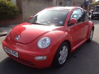 VW beetle 2.0 petrol, Automatic, lovely car , long M.O.T ,