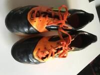 Boys Adidas moulded football boots size 4
