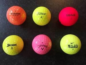 Golf balls - quality second-hand white & coloured East Victoria Park Victoria Park Area Preview