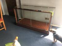 Vintage Pollards haberdashery display cabinet