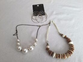 Job Lot of 2 Necklaces and 3 Pairs of Earrings - All NEW & Unused & All for Just 75p in Total!