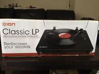 ION Classic LP Turntable/Record Player. New sealed