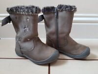 Next Girls Boots Brown/Grey with light stars size 8 UK