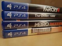 PS4 Game bundle (4 in total) for sale (2 still sealed)