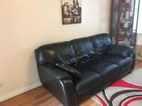 Leather 3 seats sofa in good condition for sale in Huntingdon