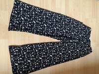 NEW wide leg black and white trousers