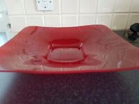 Large Red glass bowl