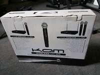 Kam dual wireless microphones