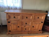 WOODEN STORAGE UNIT & COFFEE TABLE MATCHING