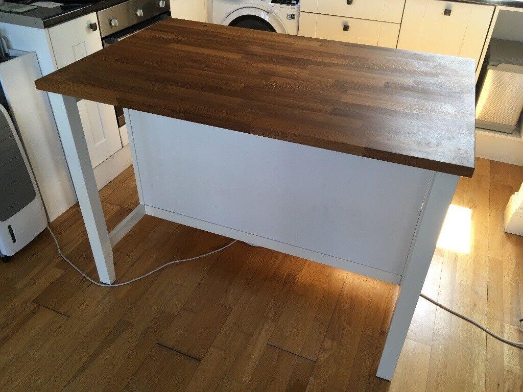 kitchen island oak  ikea stenstorp bar and storage