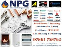 Landlord Gas safety Certificate CP12 £30 *Gas Engineers*Breakdowns*Repairs*White Goods*24-7 CALLOUT*