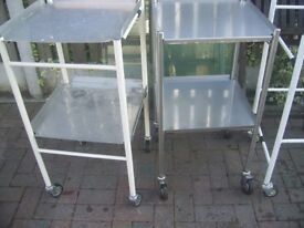 2 complete ex medical trolies and 2 frames