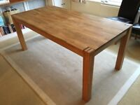 Beautiful Royal Oak Dining Table (with optional faux brown leather chairs)