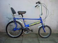 Chopper By Raleigh, Blue, A British Classic,Totally Pimped!! 8-Speed!! JUST SERVICED/ CHEAP PRICE!!!