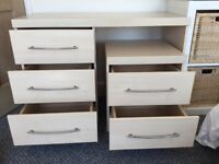 Dressing table/Desk and bedside drawers