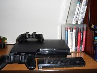 sony ps3 160gb and games.
