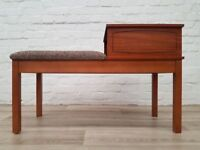 Vintage Telephone Seat (DELIVERY AVAILABLE FOR THIS ITEM OF FURNITURE)