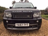 Rare Range Rover Sport 2.7 HST in Black with full Ivory Leather and Rear Entertainment WOW !!!!